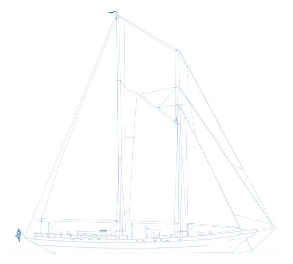 Seamester Vessel S/Y Ocean Star Line Drawing